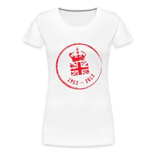 Diamond Jubliee Stamp - Large - Women's Premium T-Shirt