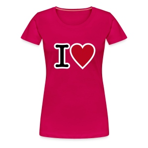 T-Shirt I Love - Frauen Premium T-Shirt
