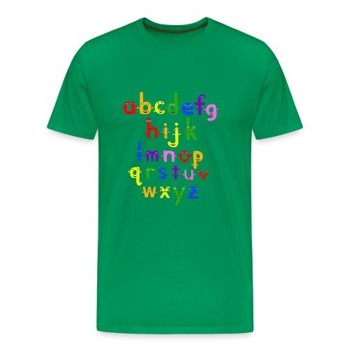 The Alphabet - Men's Premium T-Shirt