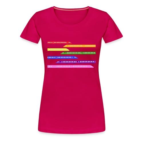 Colour Trains - Women's Premium T-Shirt