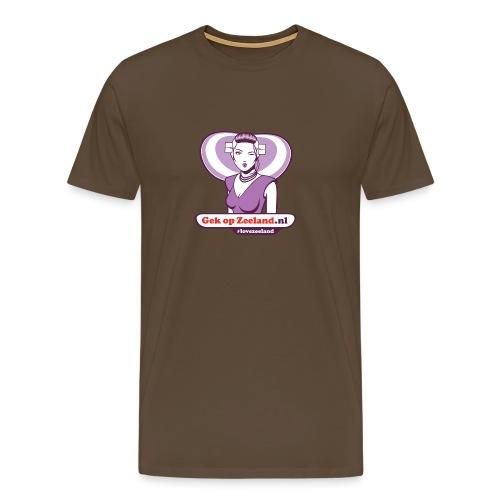 Vo de kaerel die un dubbeltje deur zou bieten. #lovezeeland - Mannen Premium T-shirt