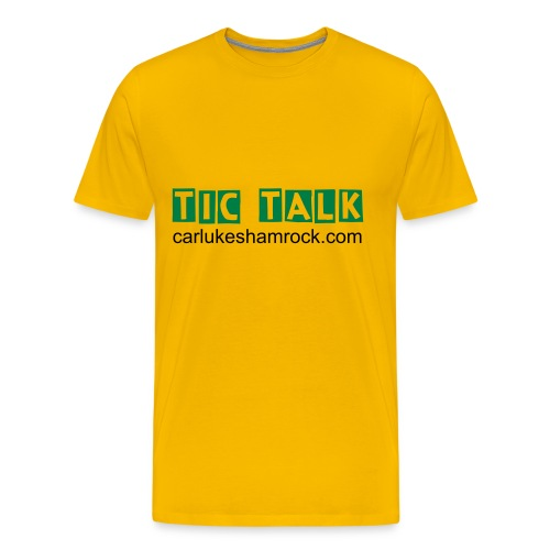 tictalk - tshirt yellow - Men's Premium T-Shirt