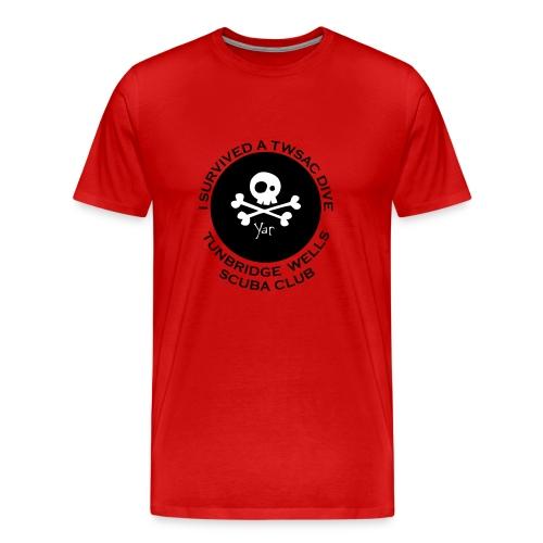 Mens classic Tee - front I survived.. - Men's Premium T-Shirt