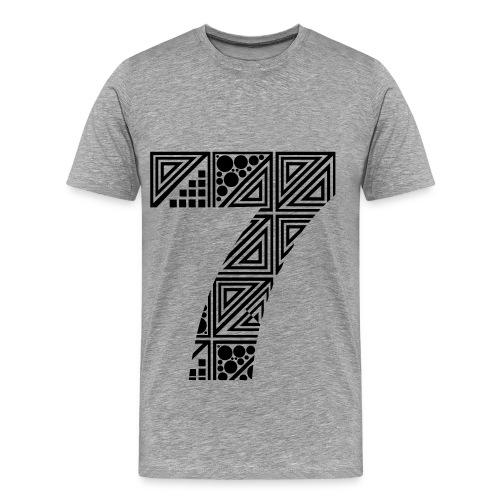 Number 7 tee - Premium-T-shirt herr
