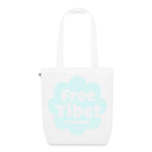 Øko, free tibet, refleks-tryk - Øko-stoftaske