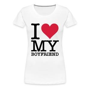 i love my bf - Vrouwen Premium T-shirt