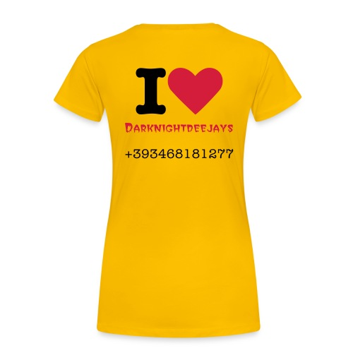 I Love DJ - Frauen Premium T-Shirt