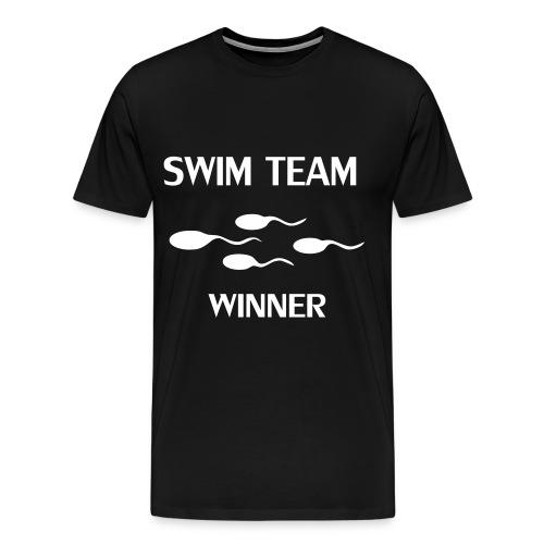 Swim Team Winner tshirt - Herre premium T-shirt