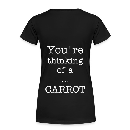 Women's Girlie Shirt - Think of a Vegetable - Women's Premium T-Shirt