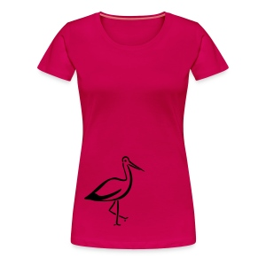 Storch Shirt - Frauen Premium T-Shirt