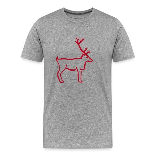 Rentier Shirt - Männer Premium T-Shirt
