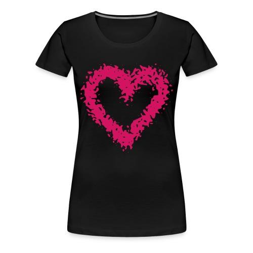 Herz - T-Shirt - Frauen Premium T-Shirt