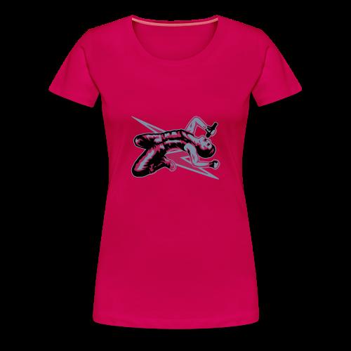 Rock God-Silver/Fuchsia - Women's Premium T-Shirt