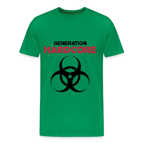 generation hardcore - Premium T-skjorte for menn