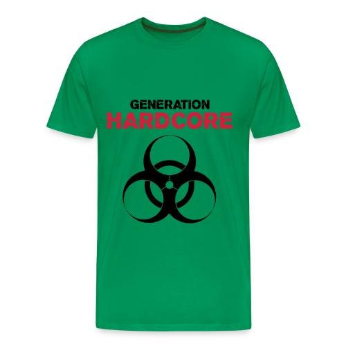 generation hardcore - Premium T-skjorte for menn