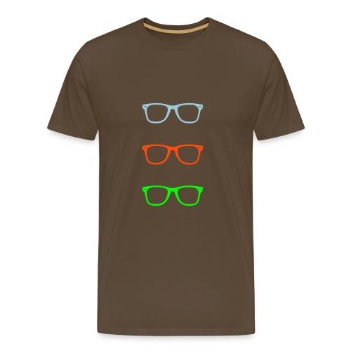briller - Premium T-skjorte for menn