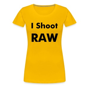 I Shoot RAW - Women's Premium T-Shirt