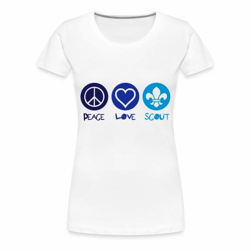 Peace Love Scout (Color) - T-shirt Premium Femme