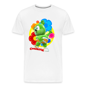 Gummibär Fun Flowers Men's Big And Tall T-Shirt - Men's Premium T-Shirt