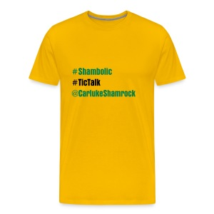 hashtags - tshirt yellow - Men's Premium T-Shirt