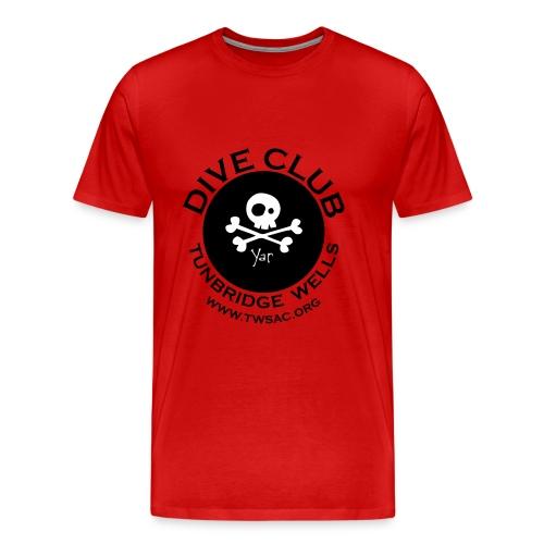 Mens classic Tee - front club print - Men's Premium T-Shirt