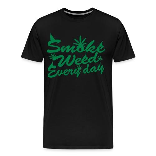 Men's T-shirt - Smoke weed everyday - Men's Premium T-Shirt