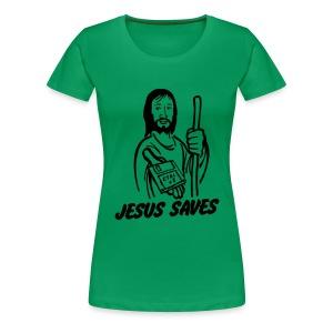 Dames T-shirt Jesus saves.. (Ctrl +S) T/m 3XL - Vrouwen Premium T-shirt