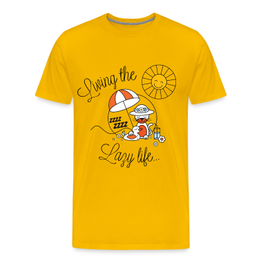 Living lazy in the sun for spring and summer or back to school funny kids t-shirts T-Shirts