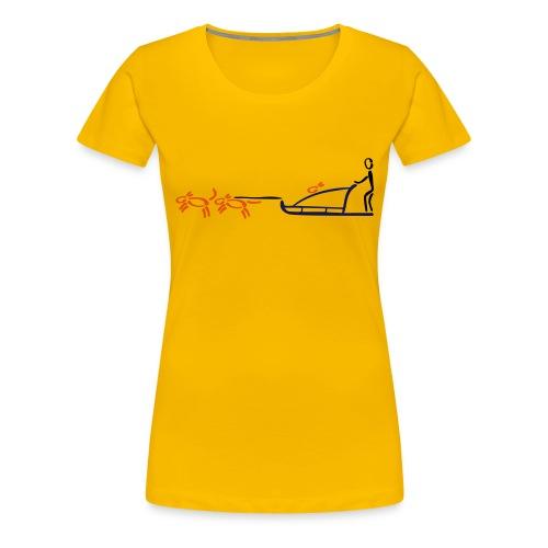 Hundeschlitten Shirt - Frauen Premium T-Shirt