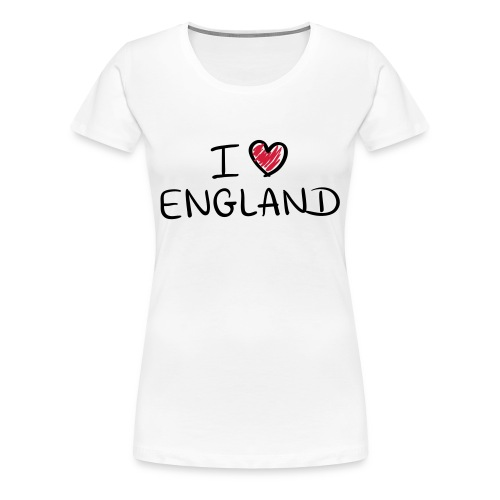 I Love England  - Women's Premium T-Shirt