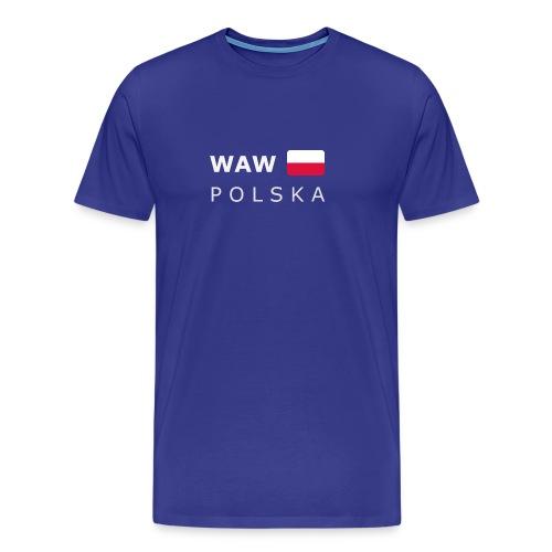 Classic T-Shirt WAW POLSKA white-lettered - Men's Premium T-Shirt