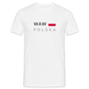 Classic T-Shirt WAW POLSKA dark-lettered - Men's T-Shirt