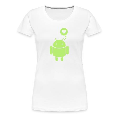 Android-in-Love-Shirt - Frauen Premium T-Shirt