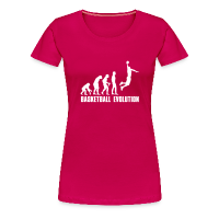 Women's Premium T-Shirt with design Evolution Basketball Dunk