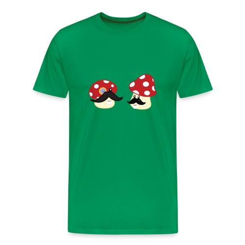 Champignons moustachus - T-shirt geek - T-shirt Premium Homme