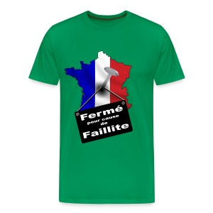 France en faillite - T-shirt Premium Homme