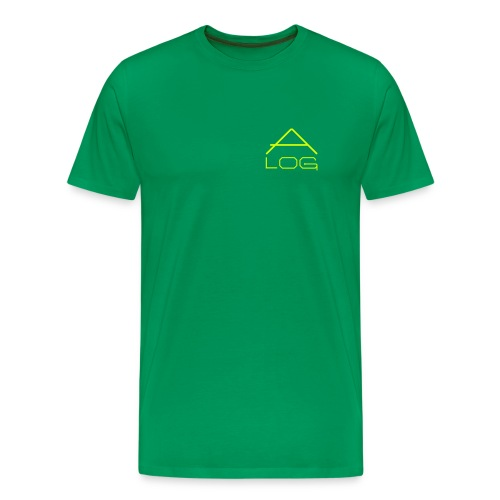 CLASSIC SHIRT / MALE / LOGOS YELLOW - Männer Premium T-Shirt