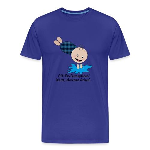 T-Shirt klassisch - Fettnapf Bo! - Männer Premium T-Shirt