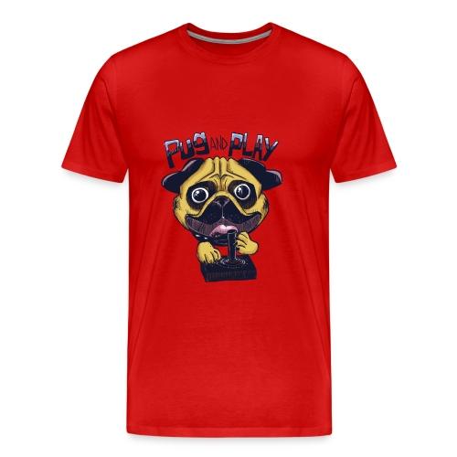 Pug & Play - Maglietta Premium da uomo