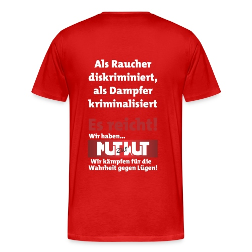 Große Männershirts - Plakat auf dem Rücken! - Männer Premium T-Shirt