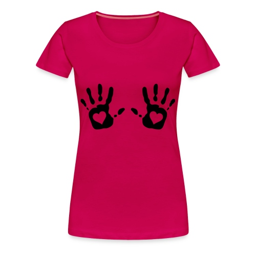 Dame t-shirt med Hands on breasts - Dame premium T-shirt