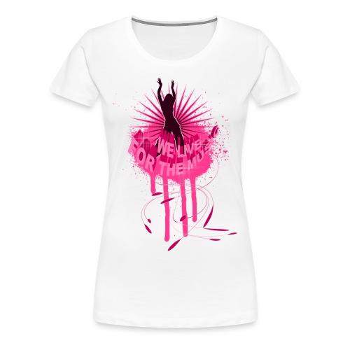 Rappublika Live for Music Girlieshirt Weiß - Frauen Premium T-Shirt