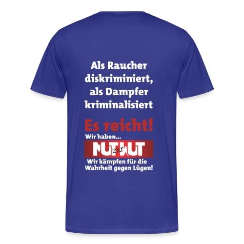 do it yourself mit Mut zur Wut Plakat auf dem Rücken - Männer Premium T-Shirt