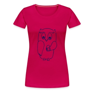 Geocaching Eule Shirt - Frauen Premium T-Shirt