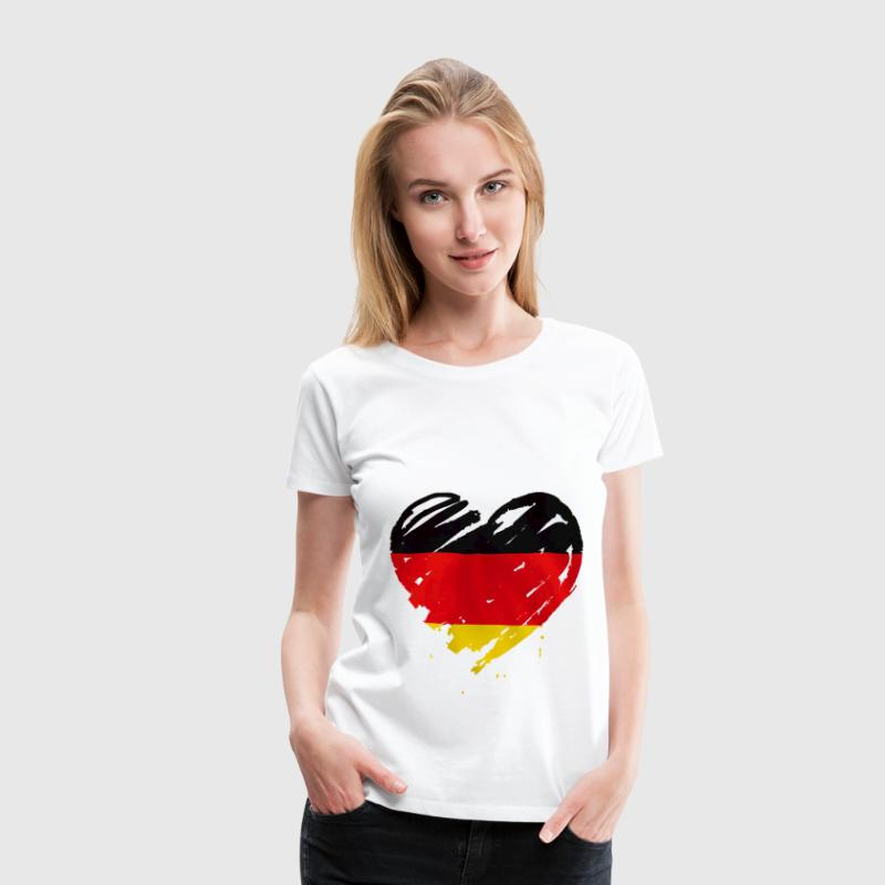 heart germany T-Shirts - Women's Premium T-Shirt