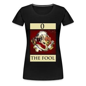 Tarot, Ladies Black T Shirt, The Fool - Women's Premium T-Shirt