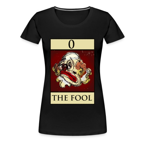 Tarot, Ladies Black T Shirt, The Fool - Women's Premium T-Shirt