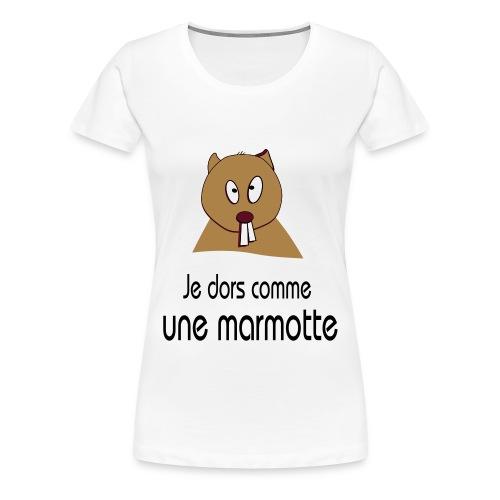 Je dors comme une marmotte pour elle - Women's Premium T-Shirt