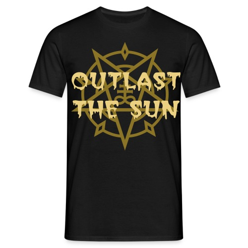 Outlast The Sun Pentegram Tee - Men's T-Shirt