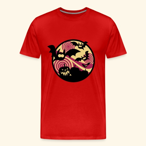 Fledermäuse & Kürbisse, Biggie - Männer Premium T-Shirt